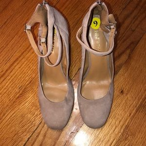 Micro suede heels